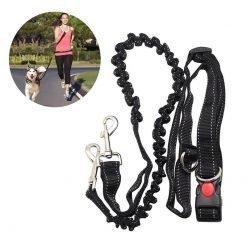 Adjustable Waist Belt Hiking Walking Dog Leashes-knewpets