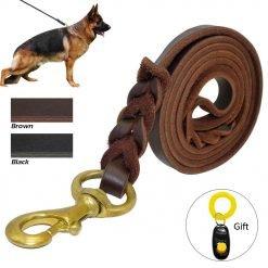 Medium Large Dogs Leather Dog Leashes-knewpets