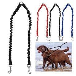 Elastic Double Dog Walking Leashes-knewpets